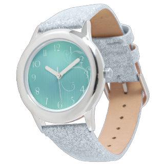 Pastel turquoise design watch