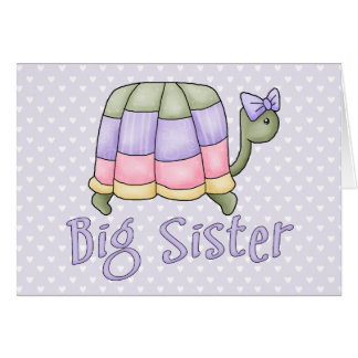 Pastel Turtle Big Sister Stationery Note Card