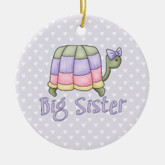 Pastel Turtle Big Sister Ceramic Ornament
