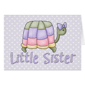 Pastel Turtle Little Sister Note Card