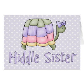 Pastel Turtle Middle Sister Note Card