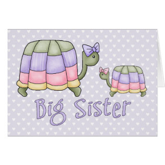 Pastel Turtles Big Sister Note Card