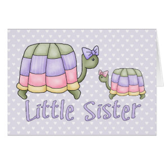 Pastel Turtles Little Sister Note Card