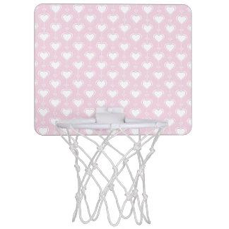 Pastel Valentine Hearts Mini Basketball Hoop