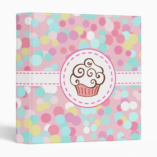 Pastel Vanilla Cupcake Binder