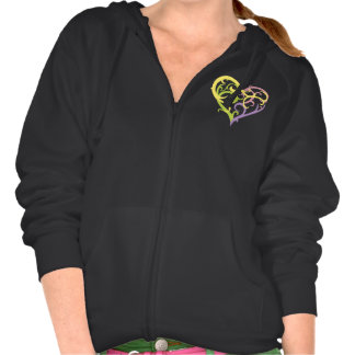 pastel vine tattoo heart hoodie