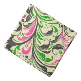 Pastel Vintage Floral Swirls-Beige Green Pink Do-rags