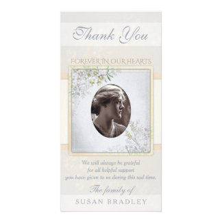 Pastel Vintage Flowers Sympathy Thank you Card