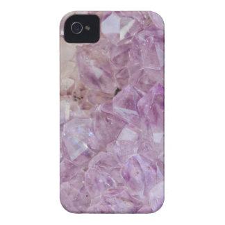Pastel Violet Crystal Quartz iPhone 4 Cases