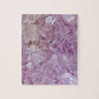 Pastel Violet Crystal Quartz Jigsaw Puzzle