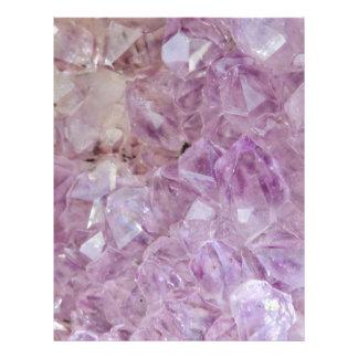 Pastel Violet Crystal Quartz Letterhead