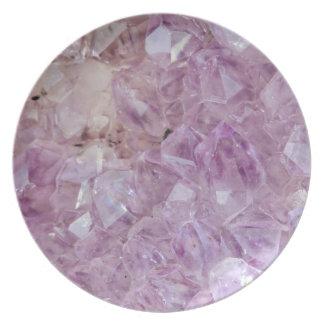Pastel Violet Crystal Quartz Plate