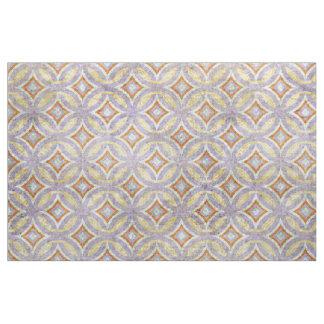 Pastel Violet Purple Orange Circles Mosaic Pattern Fabric