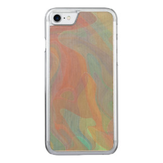 Pastel Watercolor Abstract Art Carved iPhone 8/7 Case