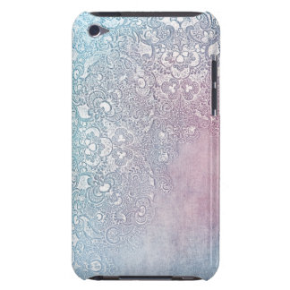 Pastel Watercolor and White Lace Floral Blue Pink iPod Touch Cases
