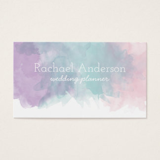 Pastel Watercolor Business Card