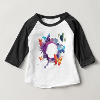 Pastel Watercolor Butterflies Around a Ring Baby T-Shirt