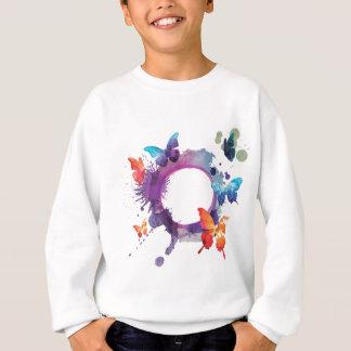 Pastel Watercolor Butterflies Around a Ring Sweatshirt