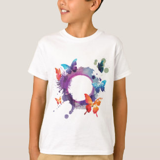 Pastel Watercolor Butterflies Around a Ring T-Shirt