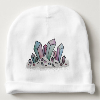 Pastel Watercolor Crystal Cluster Baby Beanie