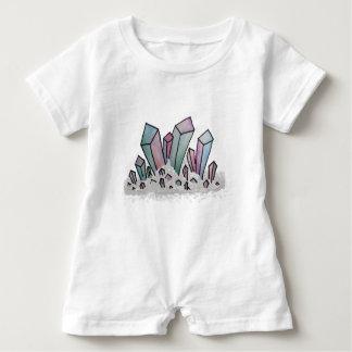 Pastel Watercolor Crystal Cluster Baby Romper