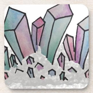 Pastel Watercolor Crystal Cluster Coaster