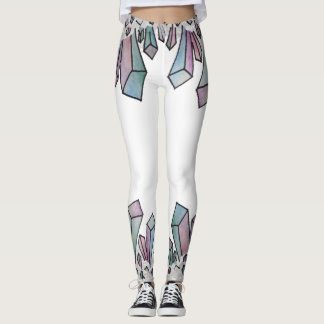 Pastel Watercolor Crystal Cluster Leggings