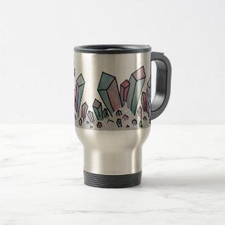 Pastel Watercolor Crystal Cluster Travel Mug
