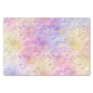 Pastel Watercolor Daisy Pattern Tissue Paper