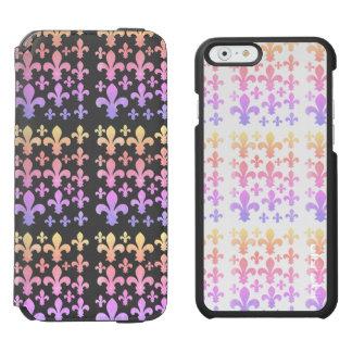 Pastel Watercolor Fleur de Lis Multicolor Incipio Watson™ iPhone 6 Wallet Case