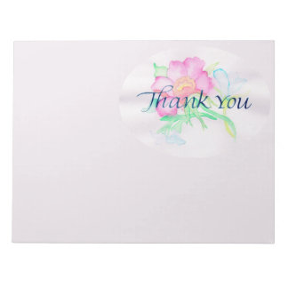 Pastel Watercolor Flowers Mini Floral Bouquet TY Notepad