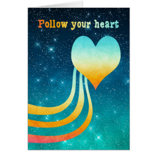 Pastel Watercolor Follow Your Heart Card