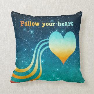 Pastel Watercolor Follow Your Heart Throw Pillow