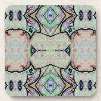 Pastel Watercolor Kaleidoscope Pattern Drink Coasters