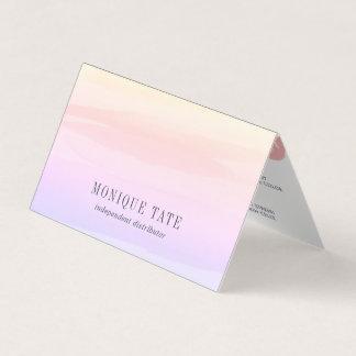 Pastel Watercolor Lip Distributor Tips & Tricks Business Card