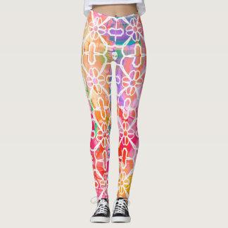 Pastel Watercolor Pattern Leggings