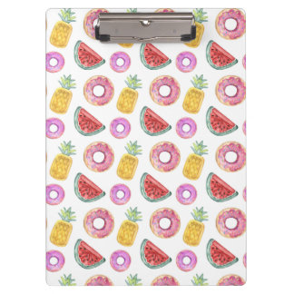 Pastel Watercolor Pool Float Pattern Clipboard