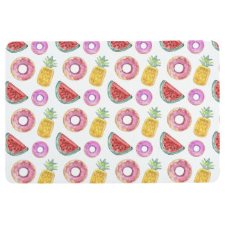 Pastel Watercolor Pool Float Pattern Floor Mat