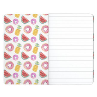 Pastel Watercolor Pool Float Pattern Journal