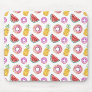 Pastel Watercolor Pool Float Pattern Mouse Pad