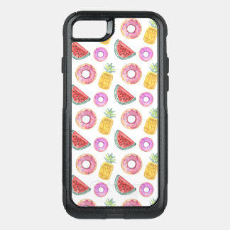 Pastel Watercolor Pool Float Pattern OtterBox Commuter iPhone 8/7 Case