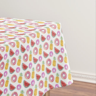 Pastel Watercolor Pool Float Pattern Tablecloth
