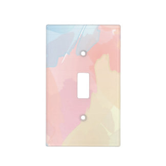 Pastel Watercolor Splash Print Light Switch Cover