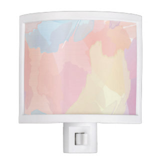 Pastel Watercolor Splash Print Nite Light