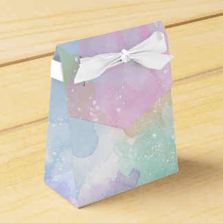Pastel Watercolor Tent Gift Box Party Favor Box