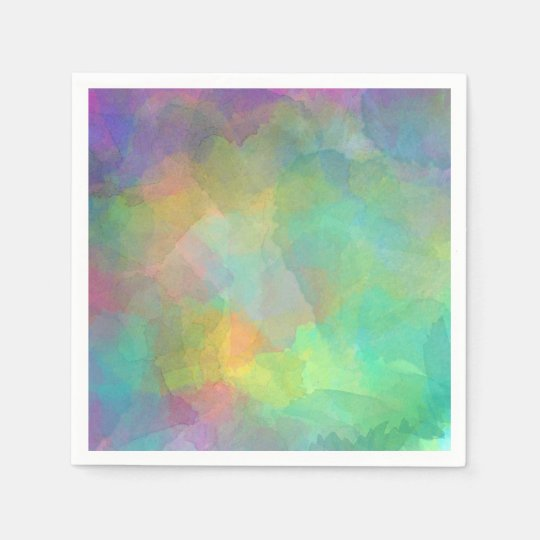 Pastel Watercolors Abstract Art Napkin