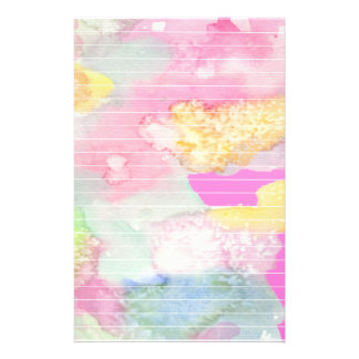 Pastel Watercolors Customized Stationery