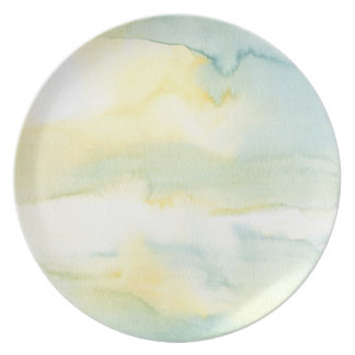 Pastel Watercolour Wash Painting Plate