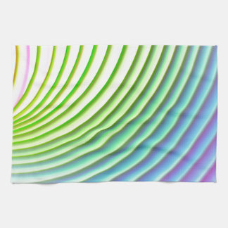 Pastel wave swoosh background stripes pattern hand towels