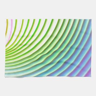 Pastel wave swoosh background stripes pattern kitchen towel
